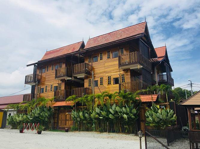 Inside views of Kampong Pinang Sebatang.